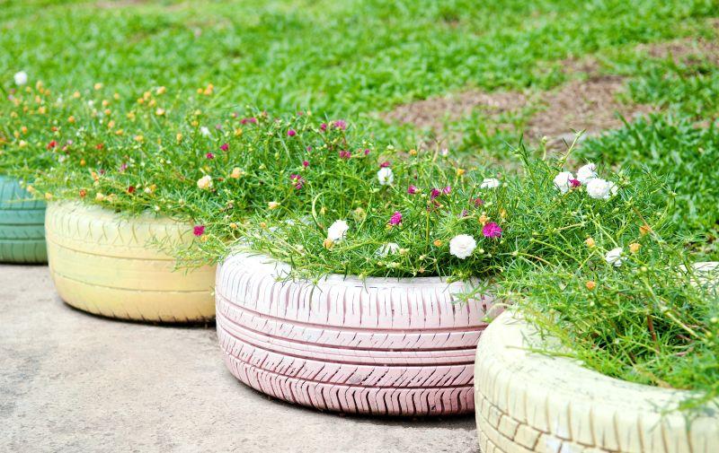 Kreatywny recykling w ogrodzie